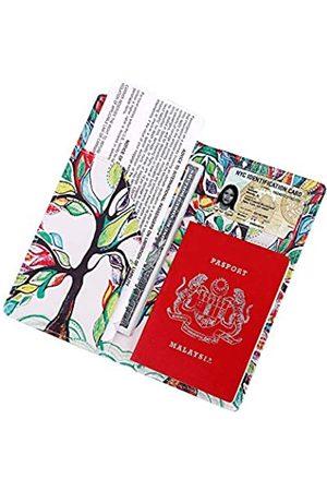 LDLED Reisepasshülle aus weichem Vengan-Leder mit 2 passenden Gepäckanhängern und Gepäckgurt