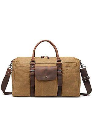 monhinty Übergroße Reisetasche, wasserfest, gewachstes Segeltuch, Wochenendtasche, Vintage-Stil