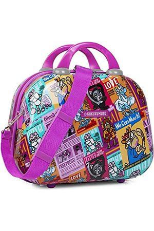 Kukuxumusu Toilettentasche aus Polycarbonat für Kinder und Jugendliche, Reisetasche mit großem Aufdruck, Toilettentasche. Mehrere Fächer. Doppelter Griff. Innenspiegel 130735