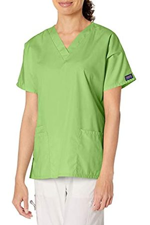 Cherokee Damen Peeling-Shirt mit V-Ausschnitt - Grün - 4X-Groß
