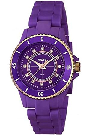 Watx Analog Quarz Uhr mit Plastik Armband RWA9016