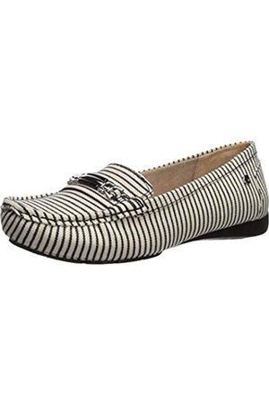 Lifestride Women's Vanity Loafer Flat, Black/White