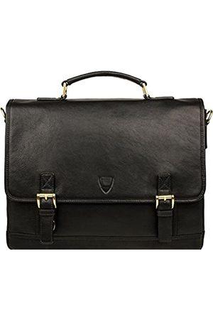 "Hidesign Hunter 15"" Laptop Compatible Leather Briefcase (Black)"