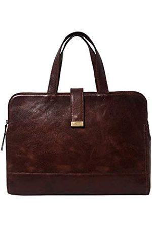 ASSOTS Messenger Bag für Herren, 40,6 cm (16 Zoll), echtes Leder, Aktentasche, Umhängetasche, Umhängetasche, glattes Vintage-Leder, Laptoptasche