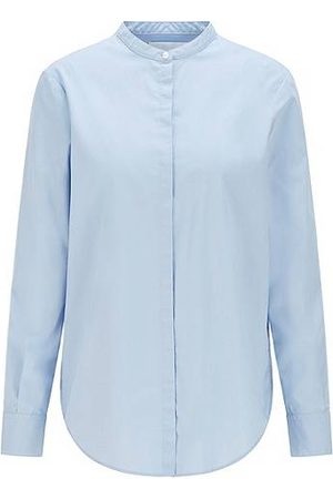BOSS Relaxed-Fit Bluse aus Bio-Baumwolle