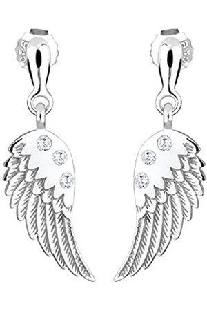 Elli Ohrringe Damen Engelflügel Anhänger Modern mit Zirkonia Kristallen aus 925 Sterling Silber