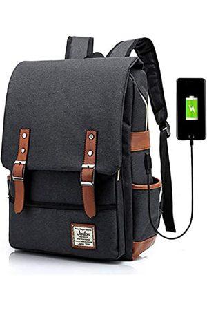 Junlion Unisex Business Laptop Rucksack College Student Schultasche Travel Rucksack Daypack mit USB Ladeanschluss