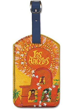 Pacifica Island Art Leatherette Luggage Baggage Tag - Los Angeles by David Klein