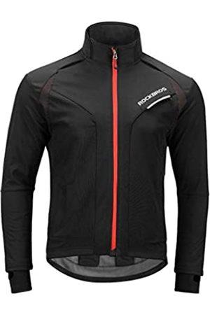 ROCK BROS Fahrradjacken für Herren Winter Fahrradjacken Thermo Winddichte Jacke für Männer Kaltes Wetter Radfahren Laufen Wandern - - 3XL