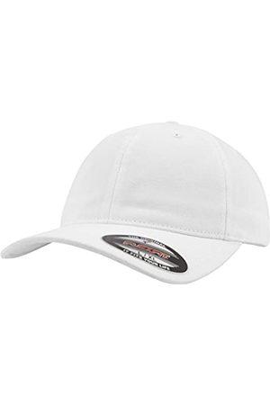 Flexfit Unisex Garment Washed Cotton Dad Hat Kappen, White