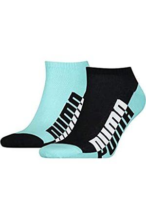 PUMA Mens Men's Seasonal Sneaker-Trainer (2 Pack) Socks, Blue/Black