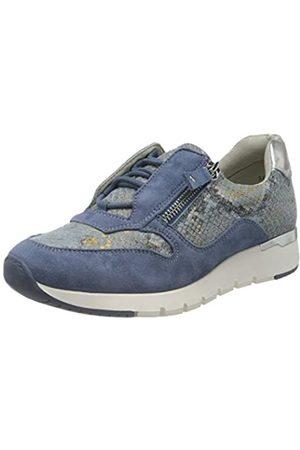 Caprice Damen KAIA Sneaker, (Blue Snake COM 831)