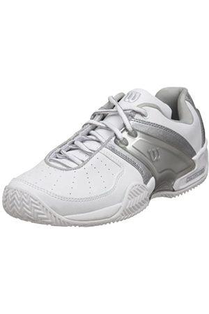 Wilson Women's Trance II Tennis Shoe,White/Silver