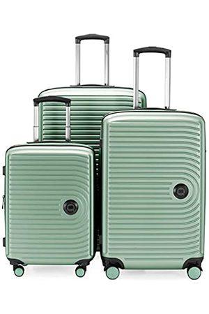 Hauptstadtkoffer Mitte – 3er Kofferset - Kabinentrolley 55 cm, mittelgroßer Koffer 68 cm + großer Reisekoffer 77 cm, Hartschale ABS