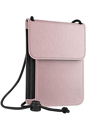Fintie Reisepass-Halstasche [RFID-Blockierung] Premium-PU-Leder-Reisebrieftasche - APPA052US