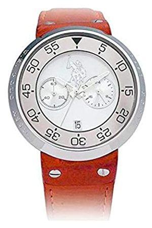 Ralph Lauren Herren Datum klassisch Quarz Uhr mit Leder Armband USP9002SL-L