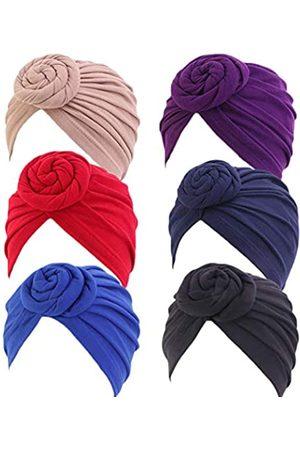 DANMY Damen Herbst Winter Geknotete Mütze Wrap Cap Indien Hut Turban Kopfbedeckung - - Large