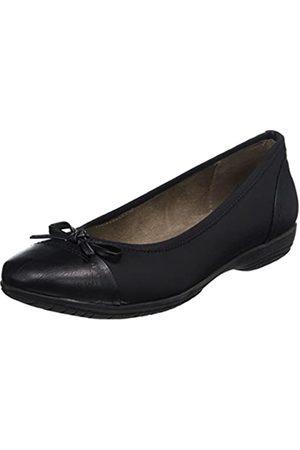 Soft Line Damen 22168 Geschlossene Ballerinas, (black)