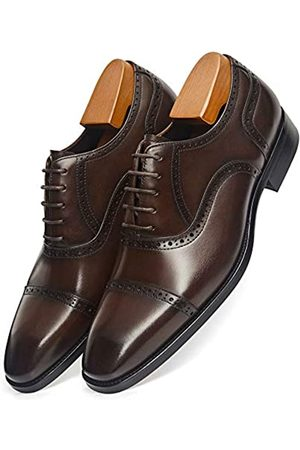 ALIPASINM Herren Anzugschuhe Oxford Formale Moderne Lederschuhe für Männer, (dunkelbraun)