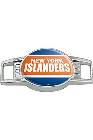 GRAPHICS & MORE NHL New York Islanders Logo Schnürsenkel Schnürsenkel Tag Läufer Gym Charm Dekoration