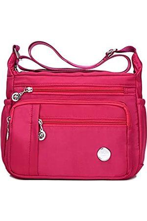 KARRESLY Damen Schultertasche Reisetasche Messenger Cross Body Nylon Taschen mit vielen Taschen
