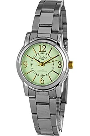 JUSTINA Analog Quarz Uhr mit Edelstahl Armband JPA36