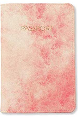 Bisu Bisu Marble Travel Leather Passport Cover Case (Pink)