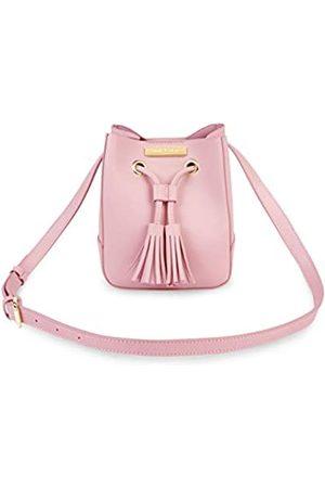 Katie Loxton Blair Bucket Damen Mini veganes Leder Quaste Kordelzug Crossbody Tasche Pink