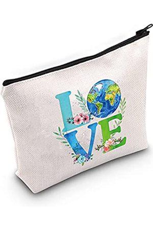 LEVLO Earth Day 2021 umweltfreundliche Kosmetiktasche mit Reißverschluss für Damen und Mädchen