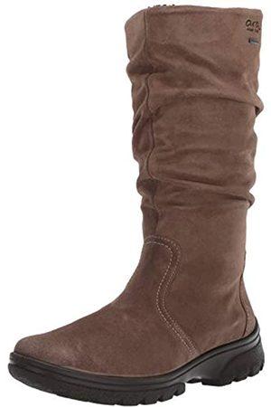 ARA Damen Sydney Kniehohe Stiefel, Beige (Teak Velour-hydro)