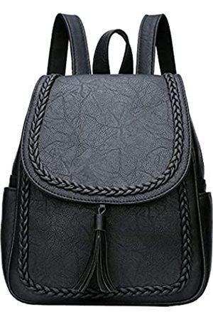 KKXIU Modischer kleiner Kunstleder-Rucksack für Frauen und Teenager Mädchen mit Quaste - - Small