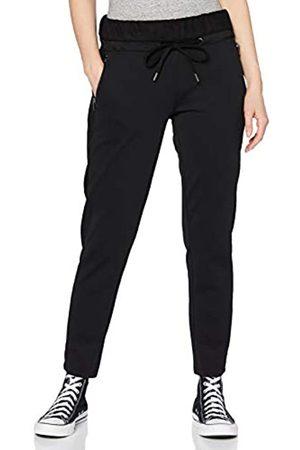 CECIL Damen 373561 Style Tracey Casual Fit Velvet Galon Joggpants Hose, Black