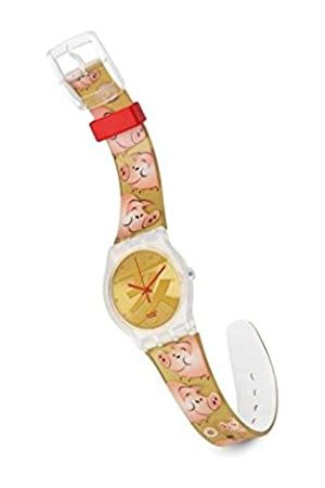 Swatch Unisex Armbanduhr BE Lucky Analog Quarz Kunststoff SUJK119