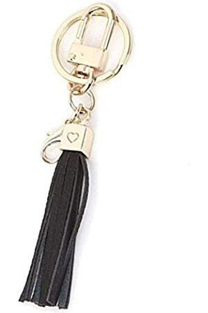 Beautyou Damen Leder Quaste Charm Damen Handtasche Geldbörse Zubehör Schlüsselanhänger, (Black-small)