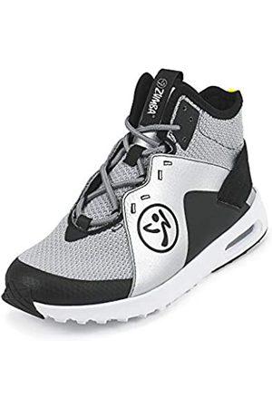 Zumba Fitness Zumba Air Classic Remix Sportliche High Top Tanzschuhe Damen Fitness Workout Sneakers, Black/Silver