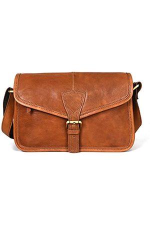 AARON LEATHER GOODS VENDIMIA ESTILO Aaron Lederwaren Crossbody Taschen für Frauen Weiche Leder Geldbörsen und Handtaschen Multi Taschen Schultertasche