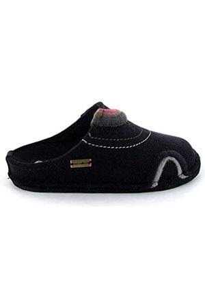 Haflinger Damen Hausschuhe - Unisex-Erwachsene Flair Baikal Pantoffeln (Mittelblau 70) 42 EU