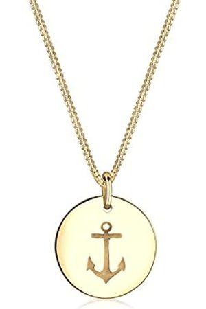Elli Halskette Damen Anker Münze Anhänger Maritim aus 925 Sterling Silber
