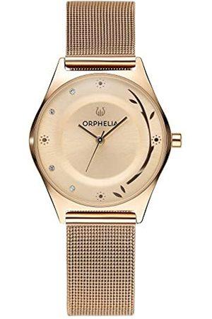 ORPHELIA Damen-Armbanduhr Opulent Chic Analog Quarz Edelstahl