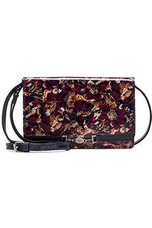 Patricia Nash Apricale Scarlet Bloom Umhängetasche aus Leder
