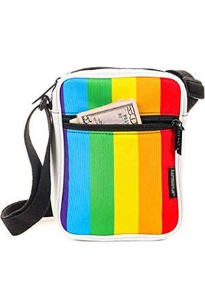 Fydelity Umhängetasche für Festivals, kleine Brusttasche, Mehrere (Rainbow Stripe)