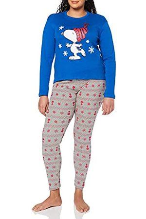 Artesanía Cerdá Damen Pijama Largo Snoopy Zweiteiliger Schlafanzug