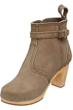 Swedish Hasbeens Damen High Heels Johdpur Boots, (Military Green)