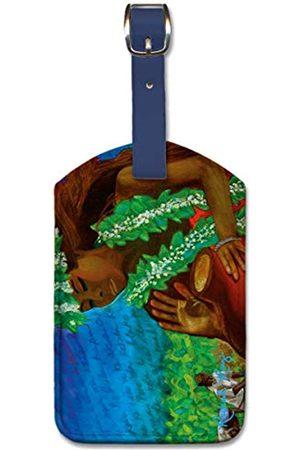 Pacifica Island Art Gepäckanhänger aus Kunstleder – Legend Taro von Rachael Ray