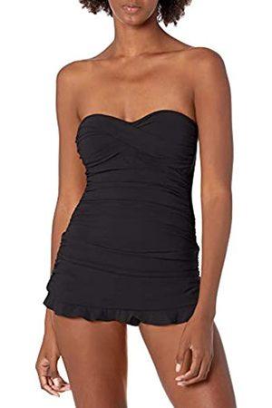 gottex Women's Classic Bandeau Swimdress One Piece Swimsuit, Tutti Frutti Black