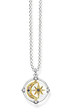 Thomas Sabo Damen Halskette mit Anhänger, Stern und Mond