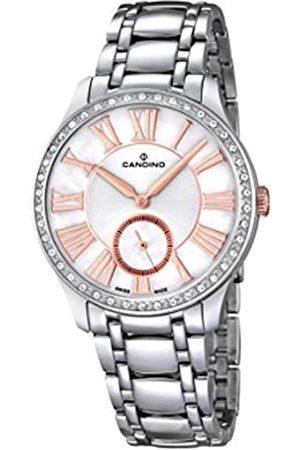 Candino Damen Analog Quarz Uhr mit Edelstahl Armband C4595/1