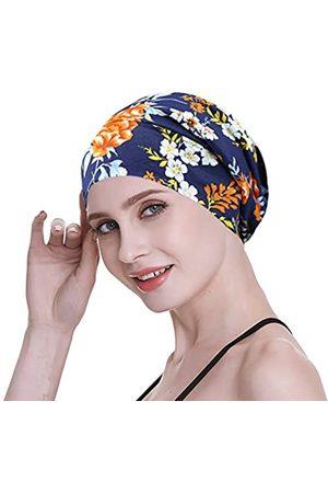 FocusCare Damen satin gefüttert schlaf slouchy cap curly slap kopfbedeckung geschenke für kraus haar eine größe passt meistens regenbogen-himmel