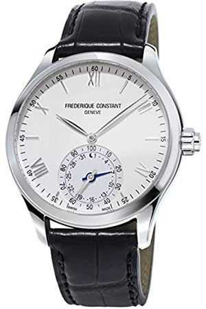 Frederique Constant Unisex Analog Quartz Uhr mit Leder Armband FC-285S5B6