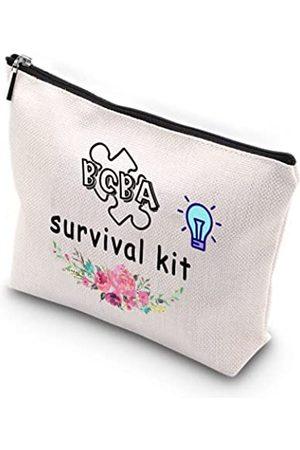 Generic WCGXKO BCBA Überlebensset mit Reißverschluss, Make-up-Tasche, Geschenk für BCBA Therapeuten